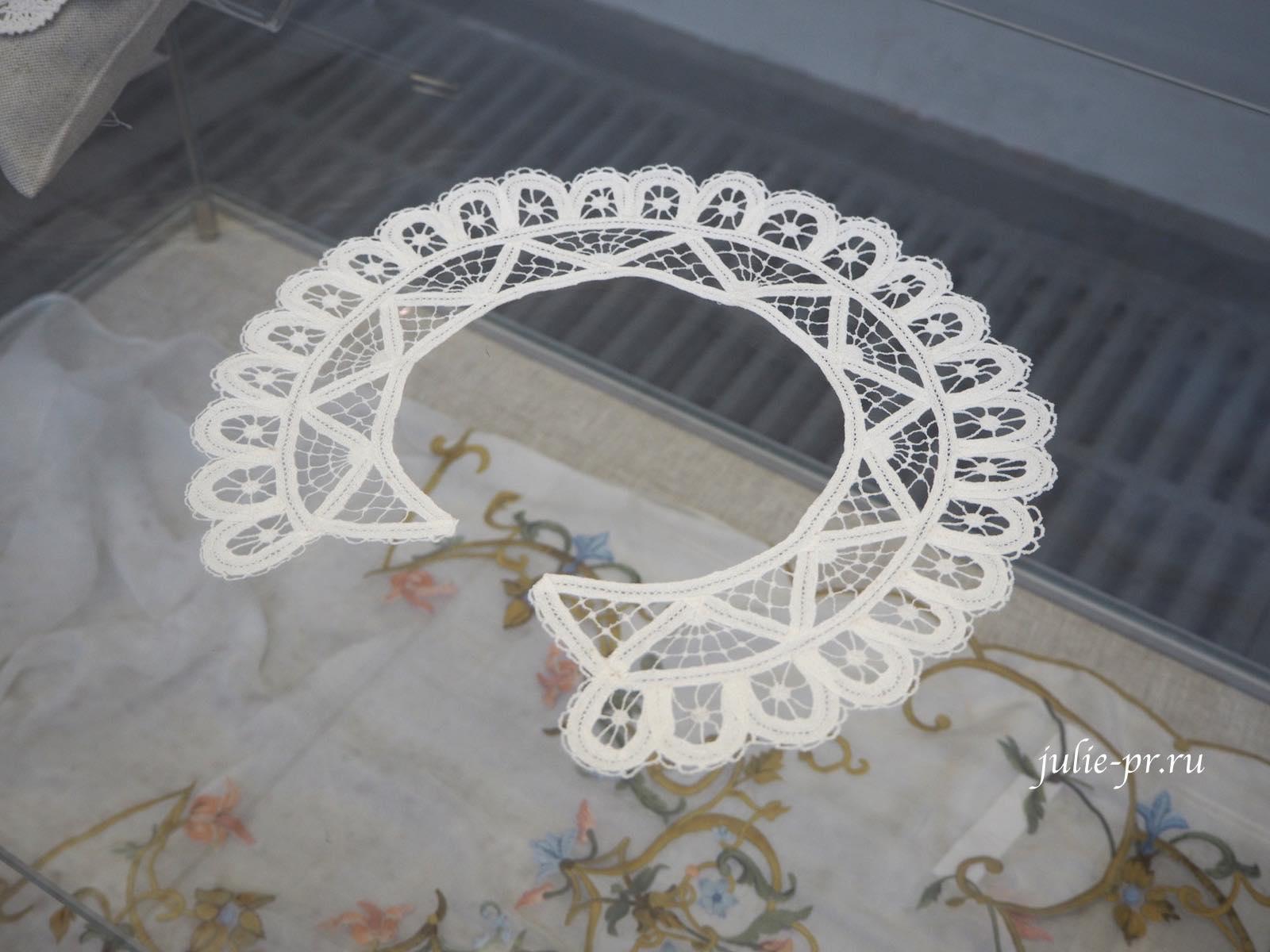 Всероссийская выставка вышивки, вышивка, Воротник, ленточное кружево, ажурная вышивка