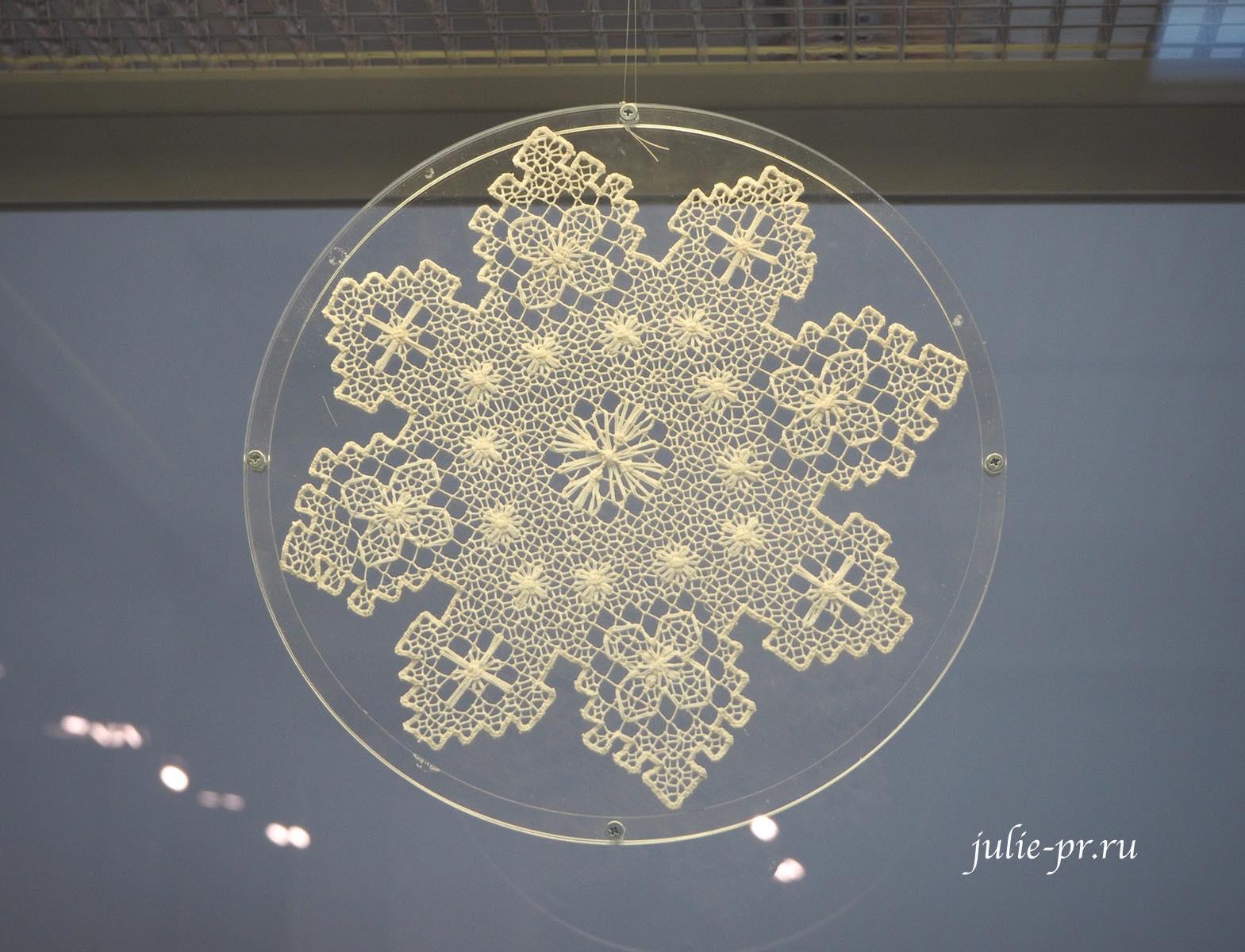 Всероссийская выставка вышивки, вышивка, Снежинка, филейно-гипюрная вышивка
