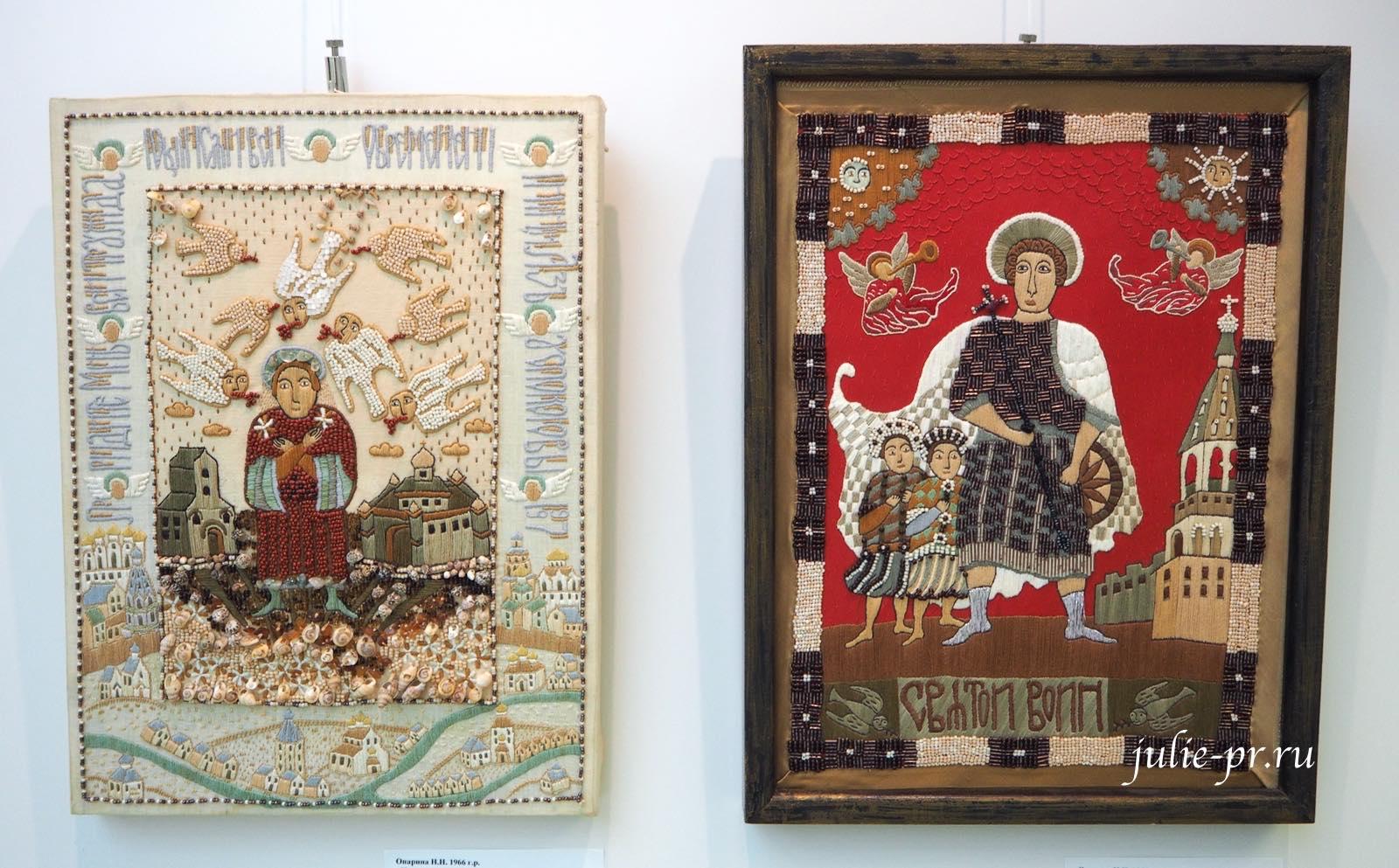Всероссийская выставка вышивки, вышивка гладью, бисером, Придите вситруждающиеся, Святой воин