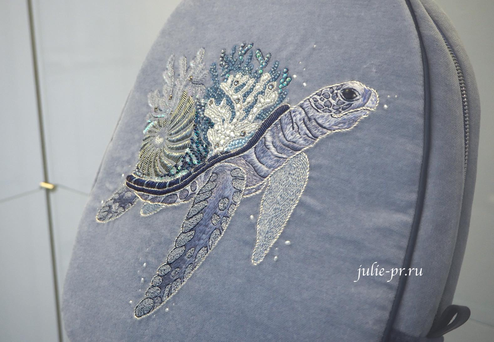 Всероссийская выставка вышивки, вышивка, рюкзак, морская черепаха