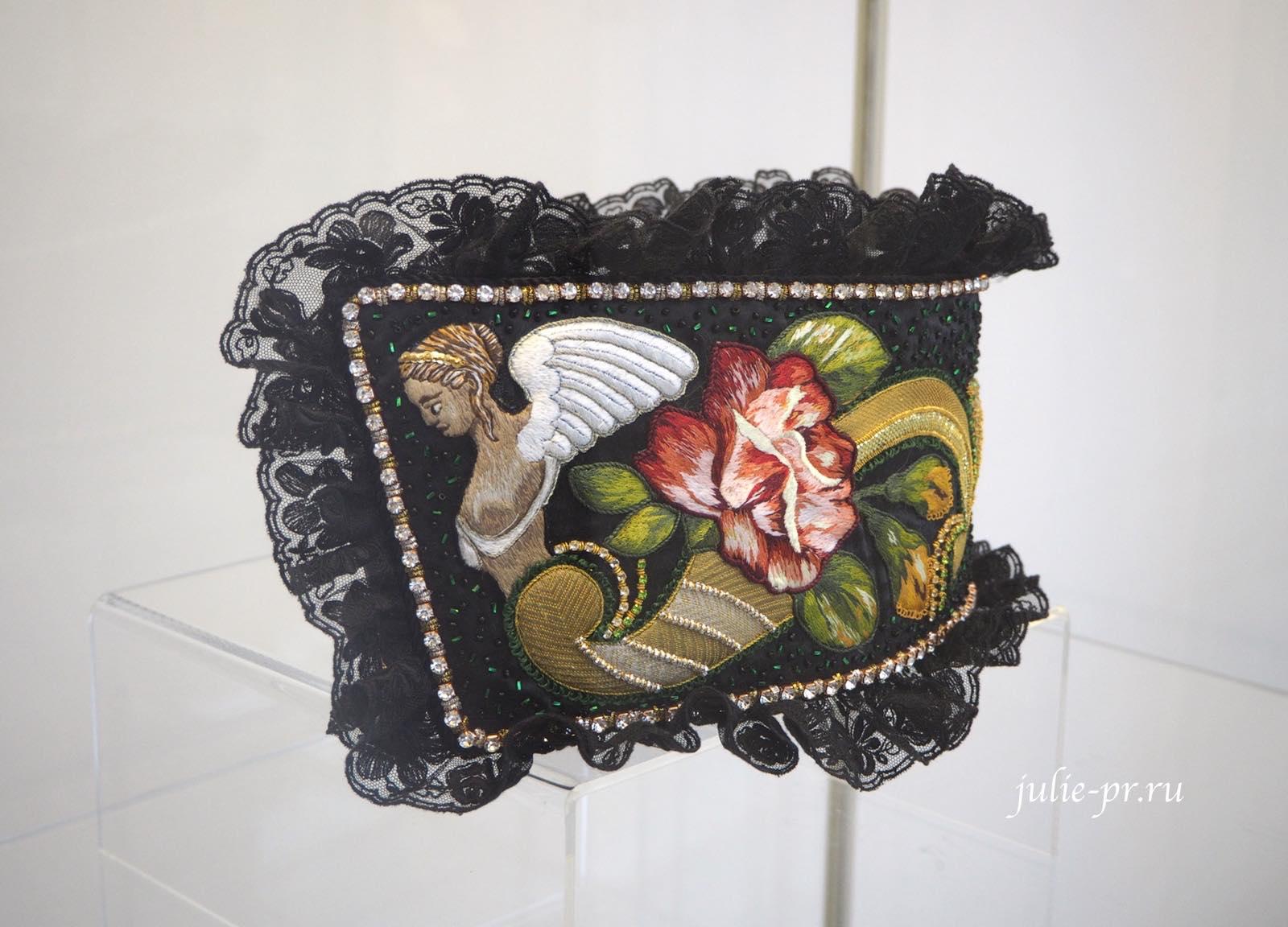 Всероссийская выставка вышивки, вышивка гладью, браслет, прикладная вышивка