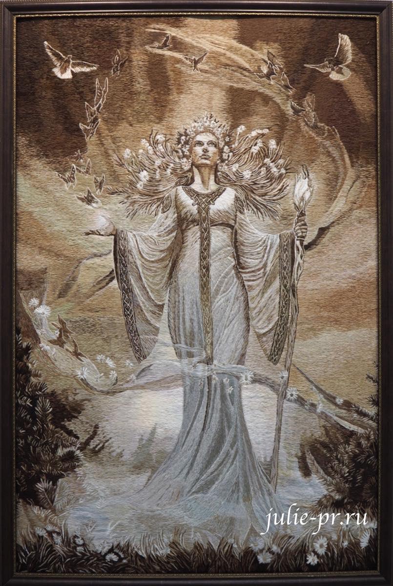 Всероссийская выставка вышивки, вышивка гладью, Славянские боги, Перун, Сварог, Жива