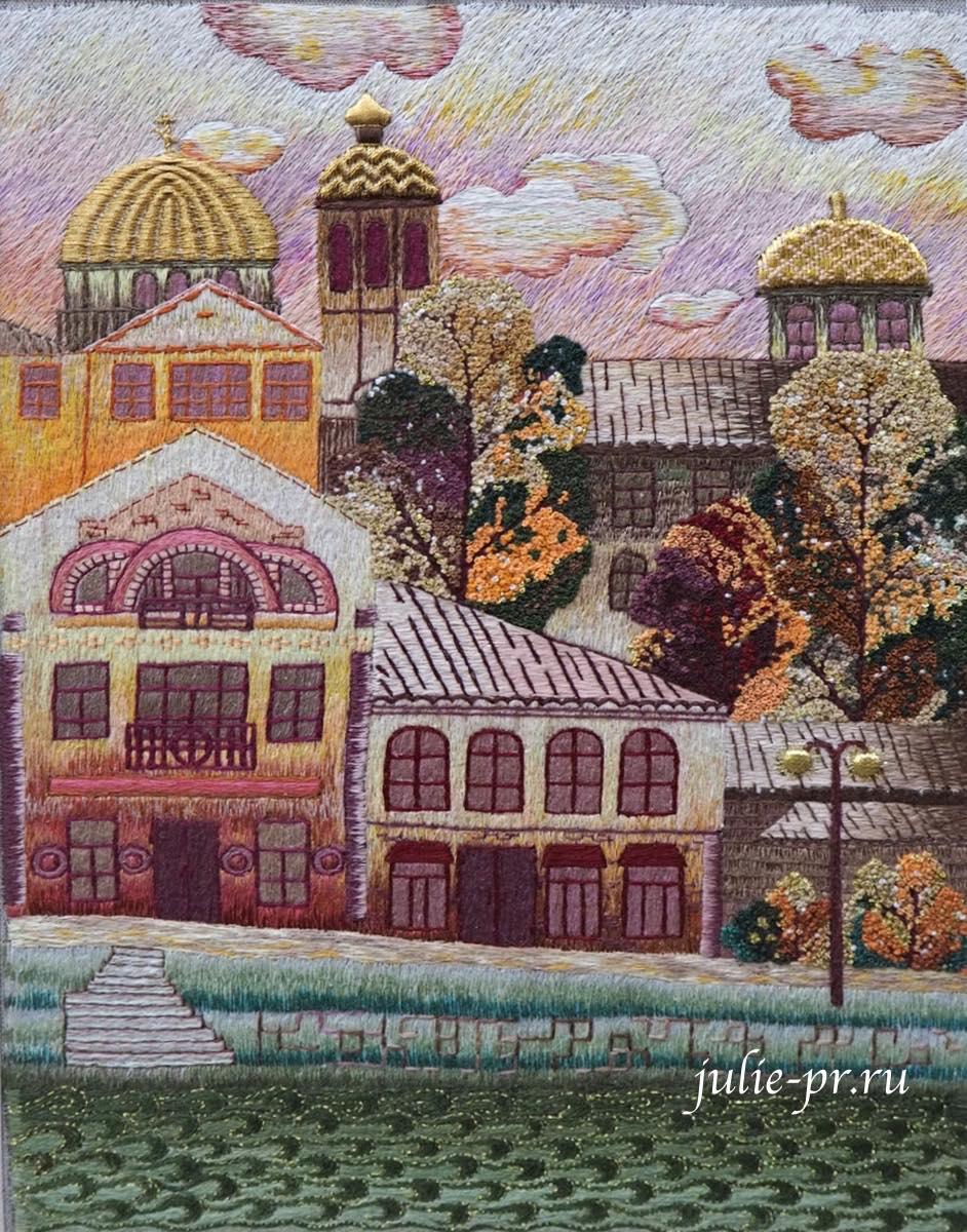 Всероссийская выставка вышивки, вышивка, Осенний вальс в Торжке, художественная гладь