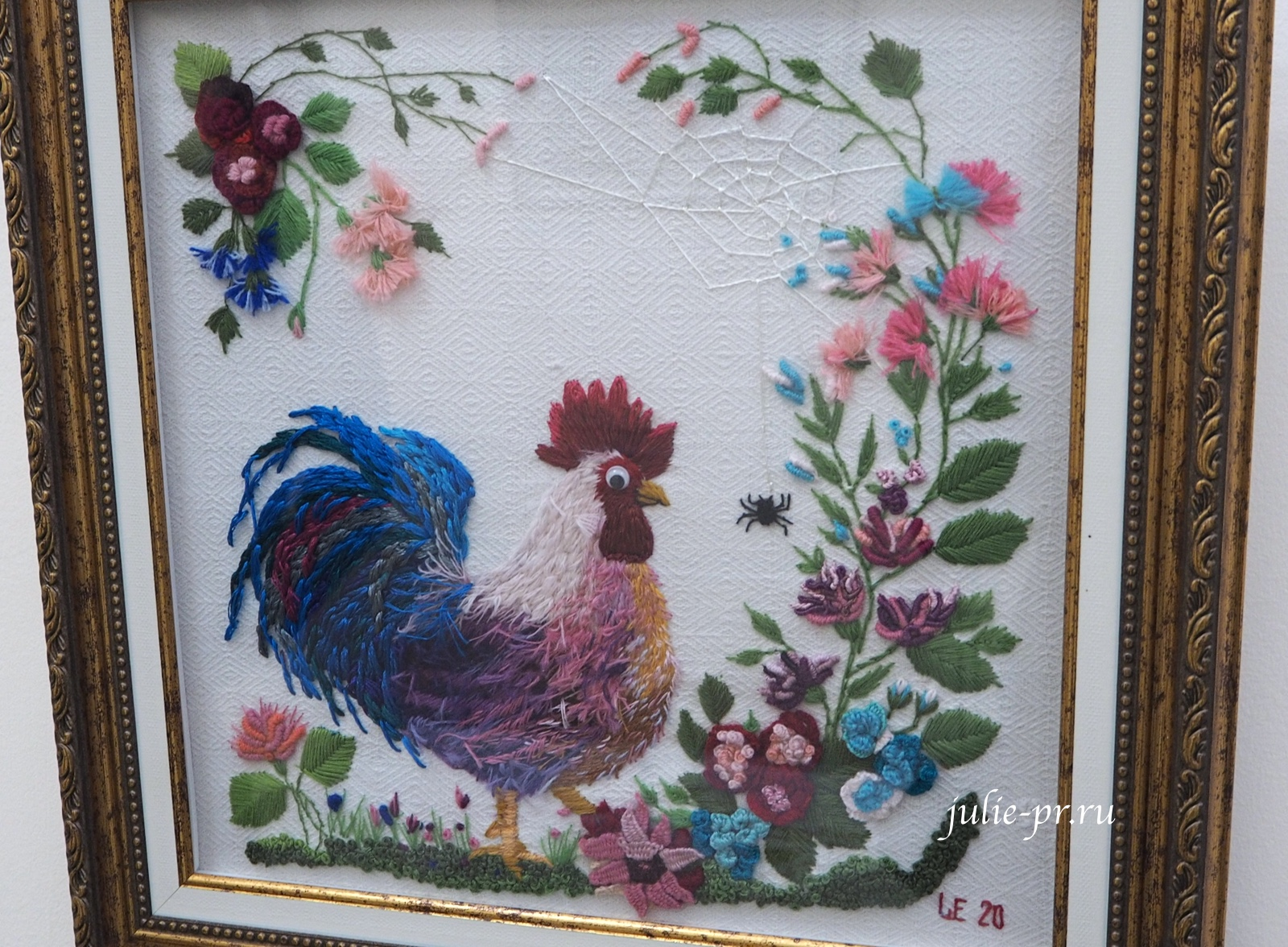 Всероссийская выставка вышивки, вышивка гладью, объемная вышивка, петух