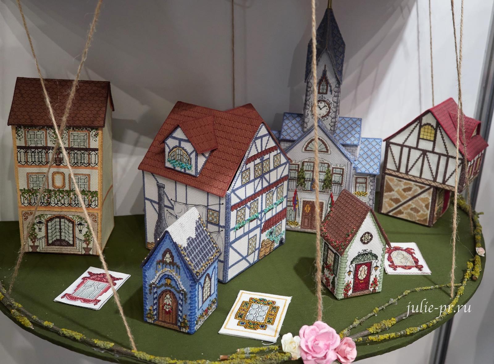 Вышидомики, вышивка крестом, домики на пластиковой канве, выставка вышивки, Формула рукоделия весна 2021