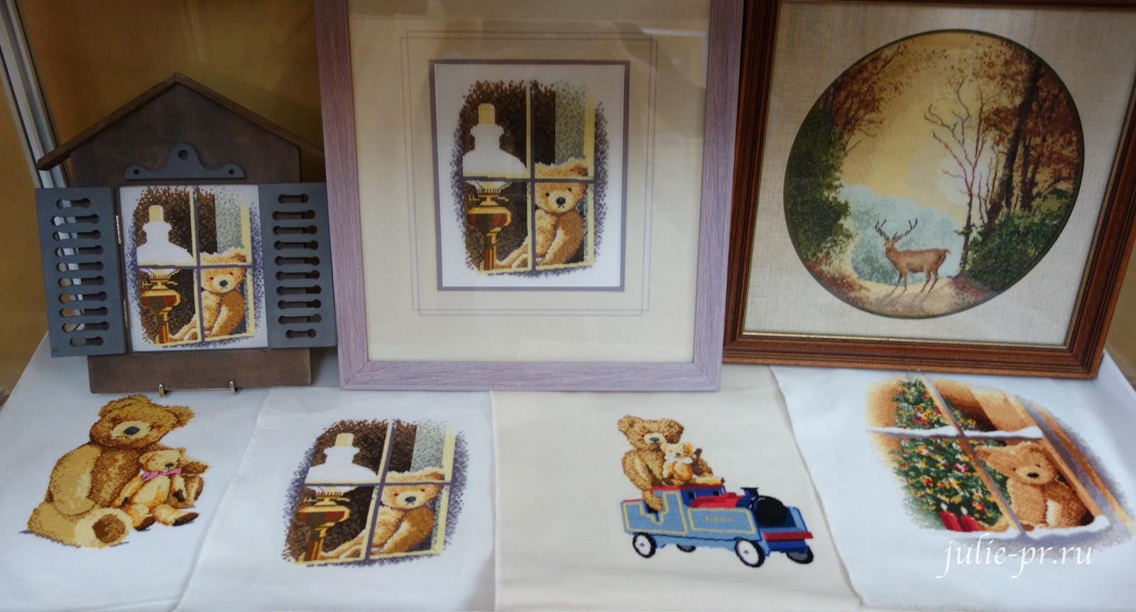 Thread Bears, мишки, вышивка крестом, Heritage, John Clayton, выставка Грани Джона Клейтона
