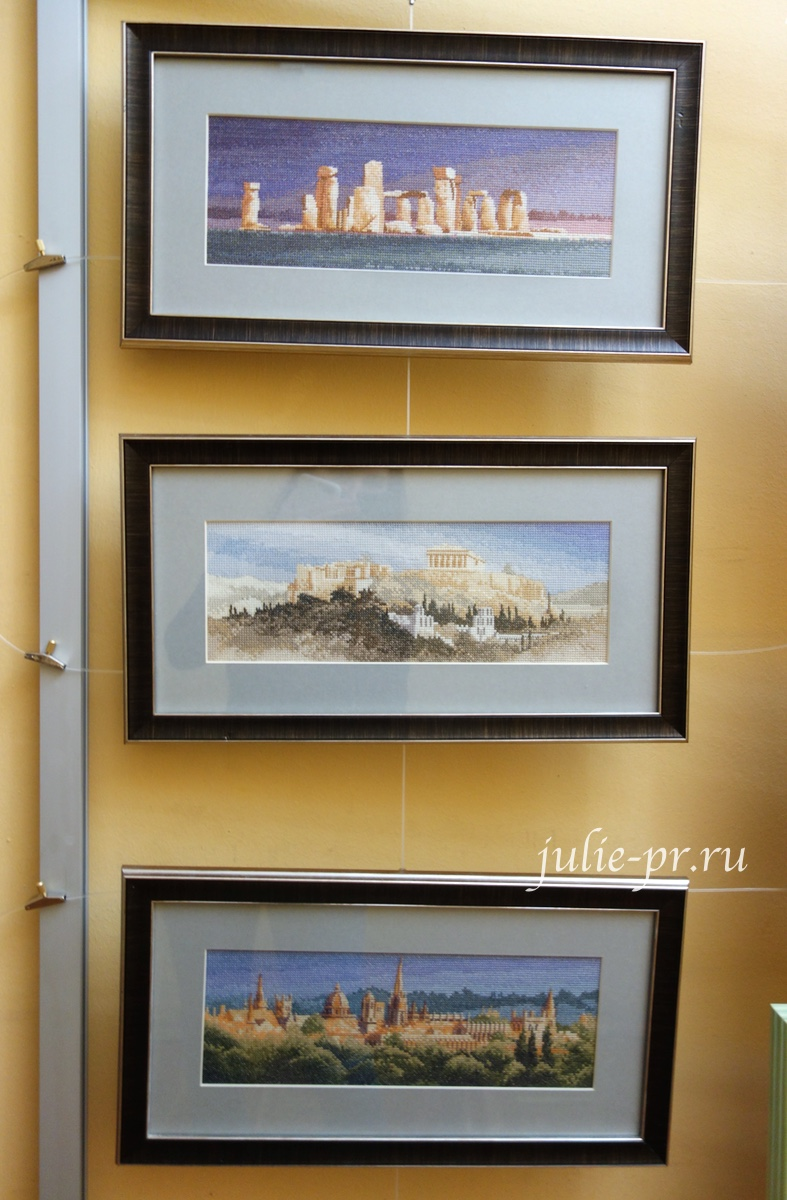 Panoramas, панорамы, Стоунхедж, Акрополь, Оксфорд, вышивка крестом, Heritage, John Clayton, выставка Грани Джона Клейтона