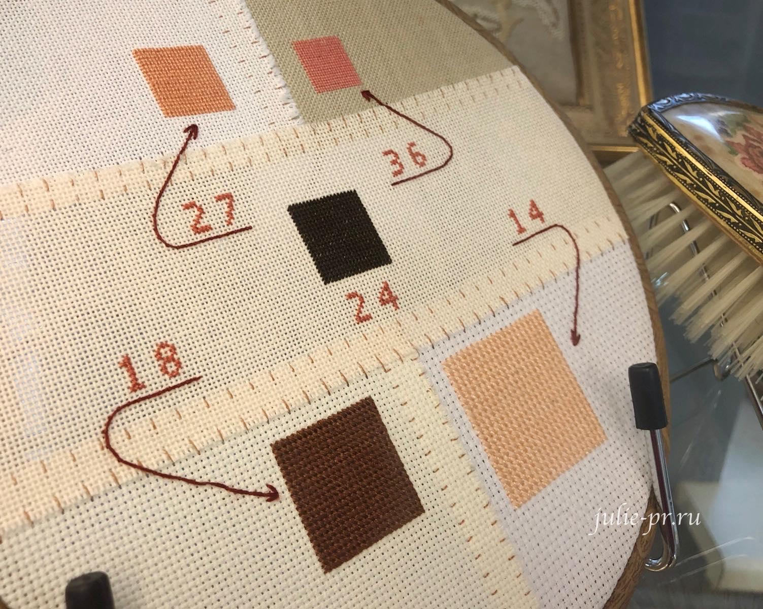 Сравнение вышивки на канве разного каунта, вышивка крестом