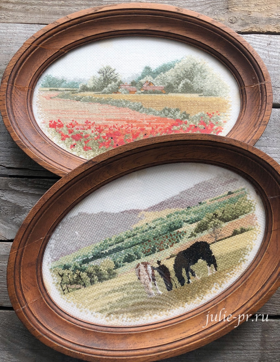 Poopy Farm, Green Pastures, вышивка крестом, Heritage, John Clayton, выставка Грани Джона Клейтона