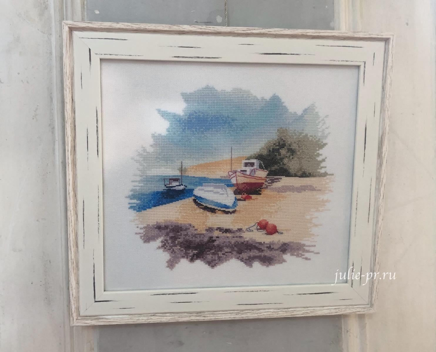 Fishing boats, рыбацкие лодки, вышивка крестом, Heritage, John Clayton, выставка Грани Джона Клейтона
