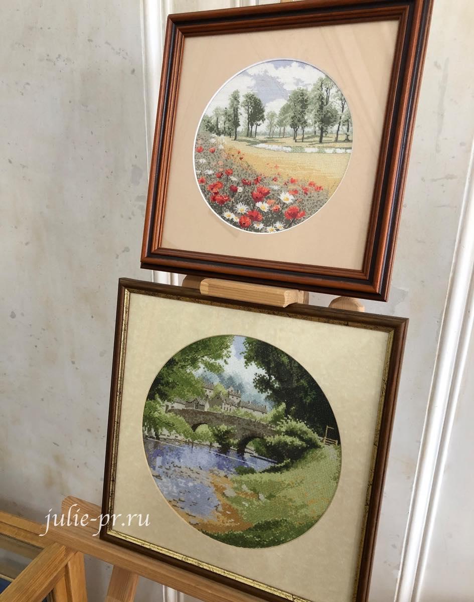 круги Клейтона, Summer Meadow, Riverside, вышивка крестом, Heritage, John Clayton, выставка Грани Джона Клейтона