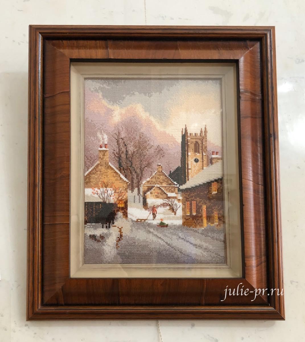 Snowy village, Заснеженная деревня, вышивка крестом, Heritage, John Clayton, выставка Грани Джона Клейтона