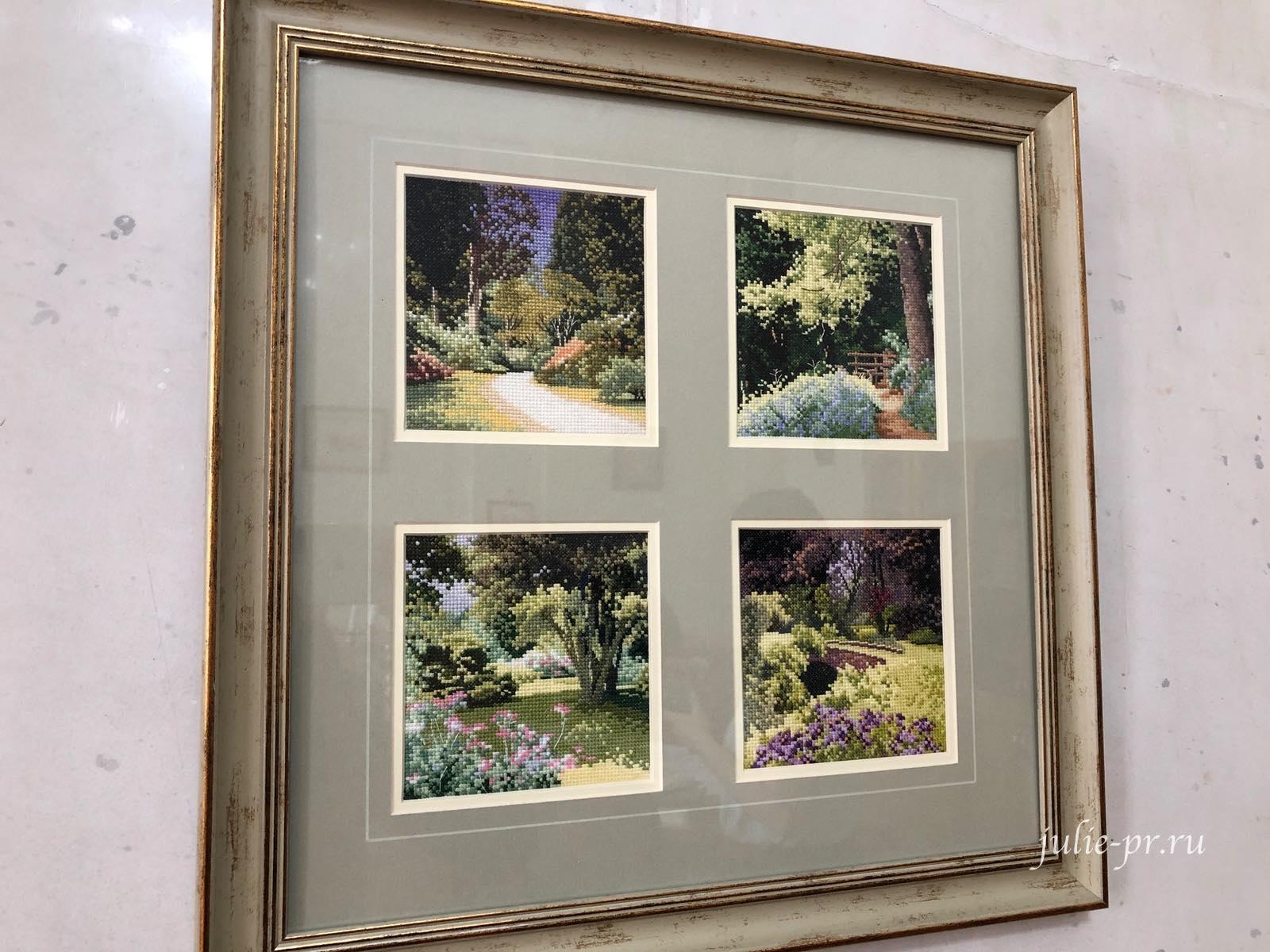 Summer Shade, Hidden Bridge, Woodland path, Bluebell wood, вышивка крестом, Heritage, John Clayton, выставка Грани Джона Клейтона