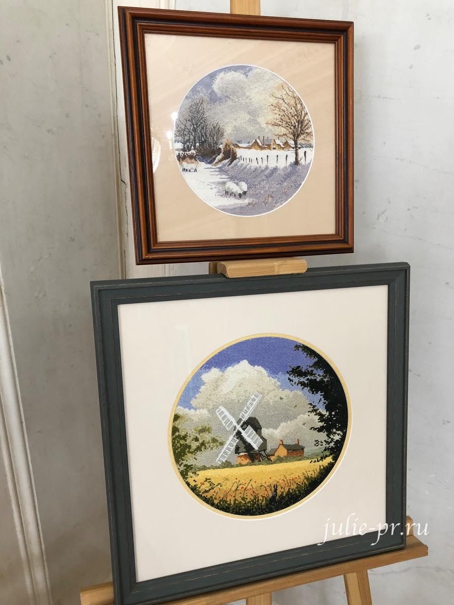 Winter Sheep, Corn Mill, мельница, зимняя овца, круги Клейтона, вышивка крестом, Heritage, John Clayton, выставка Грани Джона Клейтона