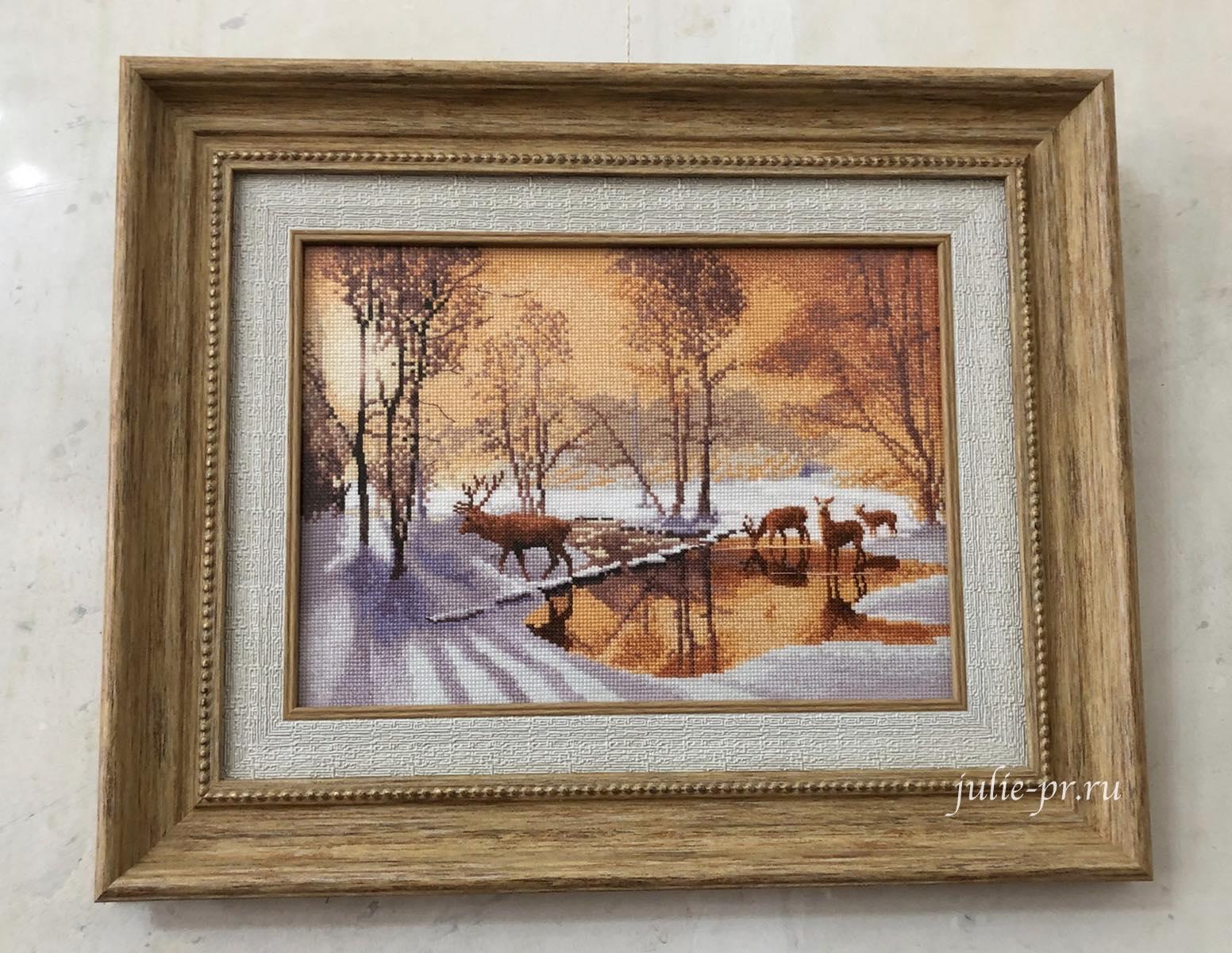 Stepping Stones, Дорога через ручей, вышивка крестом, Heritage, John Clayton, выставка Грани Джона Клейтона