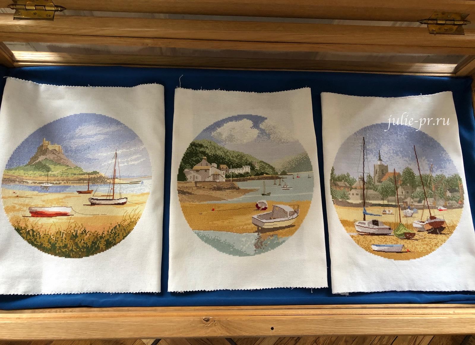 Lindisfarne, Low Tide, High and Dry, море, круги Клейтона, вышивка крестом, Heritage, John Clayton, выставка Грани Джона Клейтона