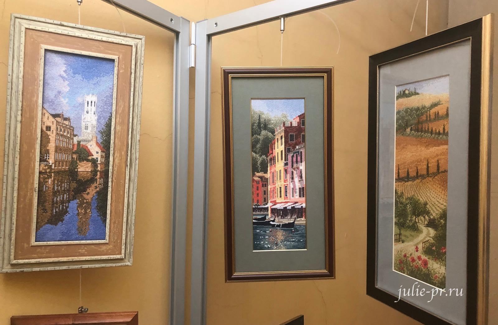 Брюгге, Портофино, Тоскана, вышивка крестом, Heritage, John Clayton, выставка Грани Джона Клейтона