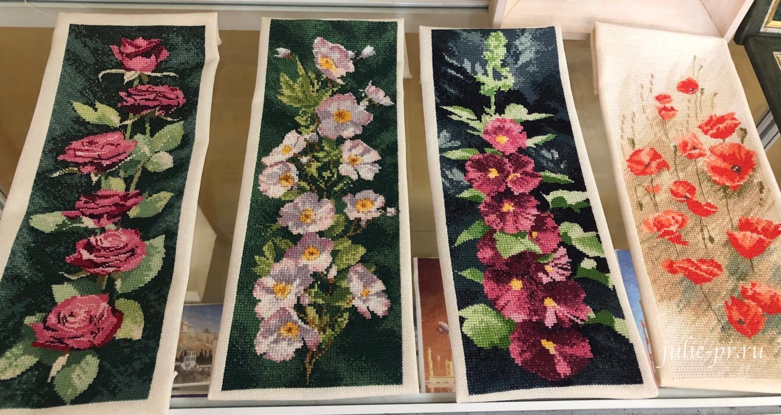 Flower Panels, Цветочные панели, вышивка крестом, Heritage, John Clayton, выставка Грани Джона Клейтона