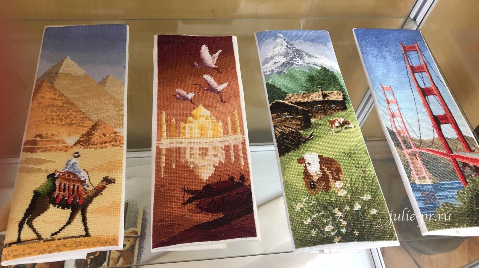 The Pyramids, Taj Mahal, Alpine Meadow, Golden Gate Bridge, Internationals, Международная серия, вышивка крестом, Heritage, John Clayton, выставка Грани Джона Клейтона