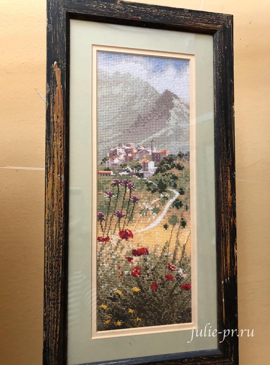 Корсика, Corsican Village, вышивка крестом, Heritage, John Clayton, выставка Грани Джона Клейтона