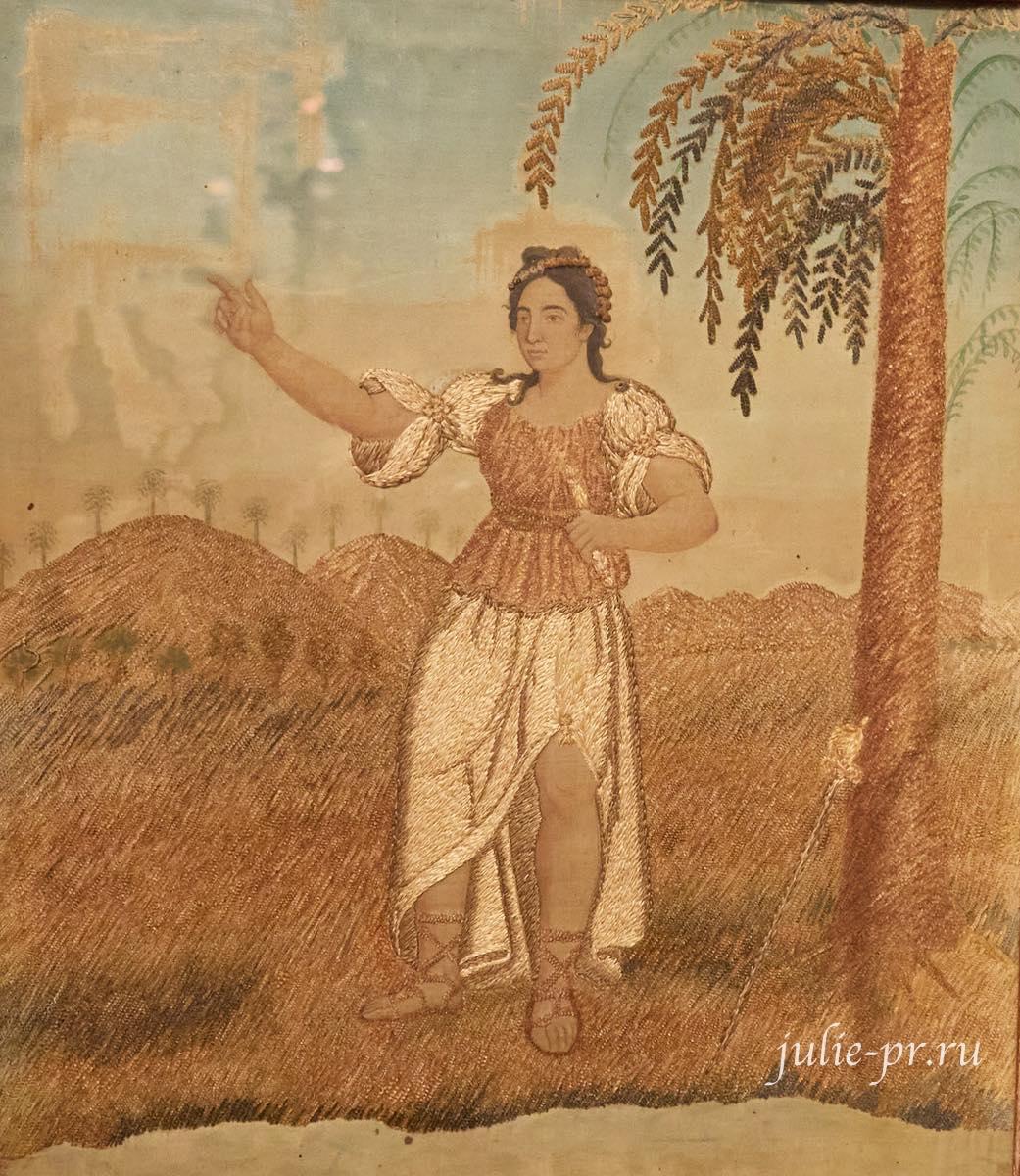 Вышивка гладью, ок. 1800 г, Франция, выставка Старинные вышивки