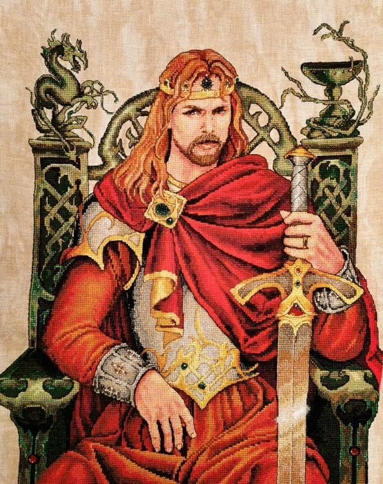 вышивка крестом, Nimue, король Артур, Annaick Chauvel