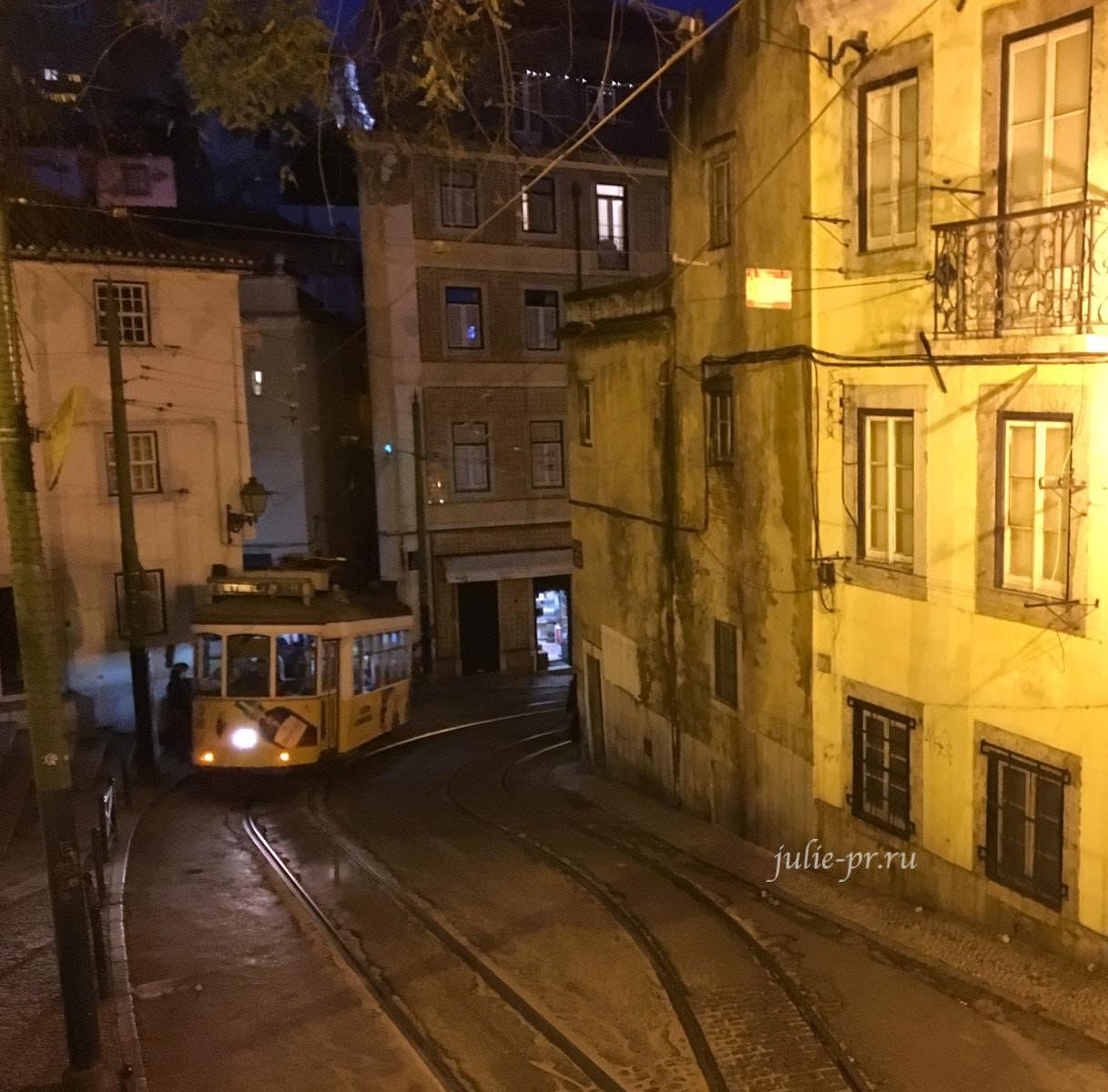 Португалия, Лиссабон, ночь, Алфама