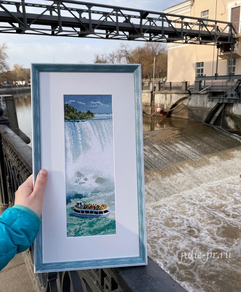 вышивка крестом, Heritage, JCNG994, Niagara Falls, Ниагарский водопад, Internationals, Интернациональная коллекция, Джон Клейтон, John Clayton, оформление в раму