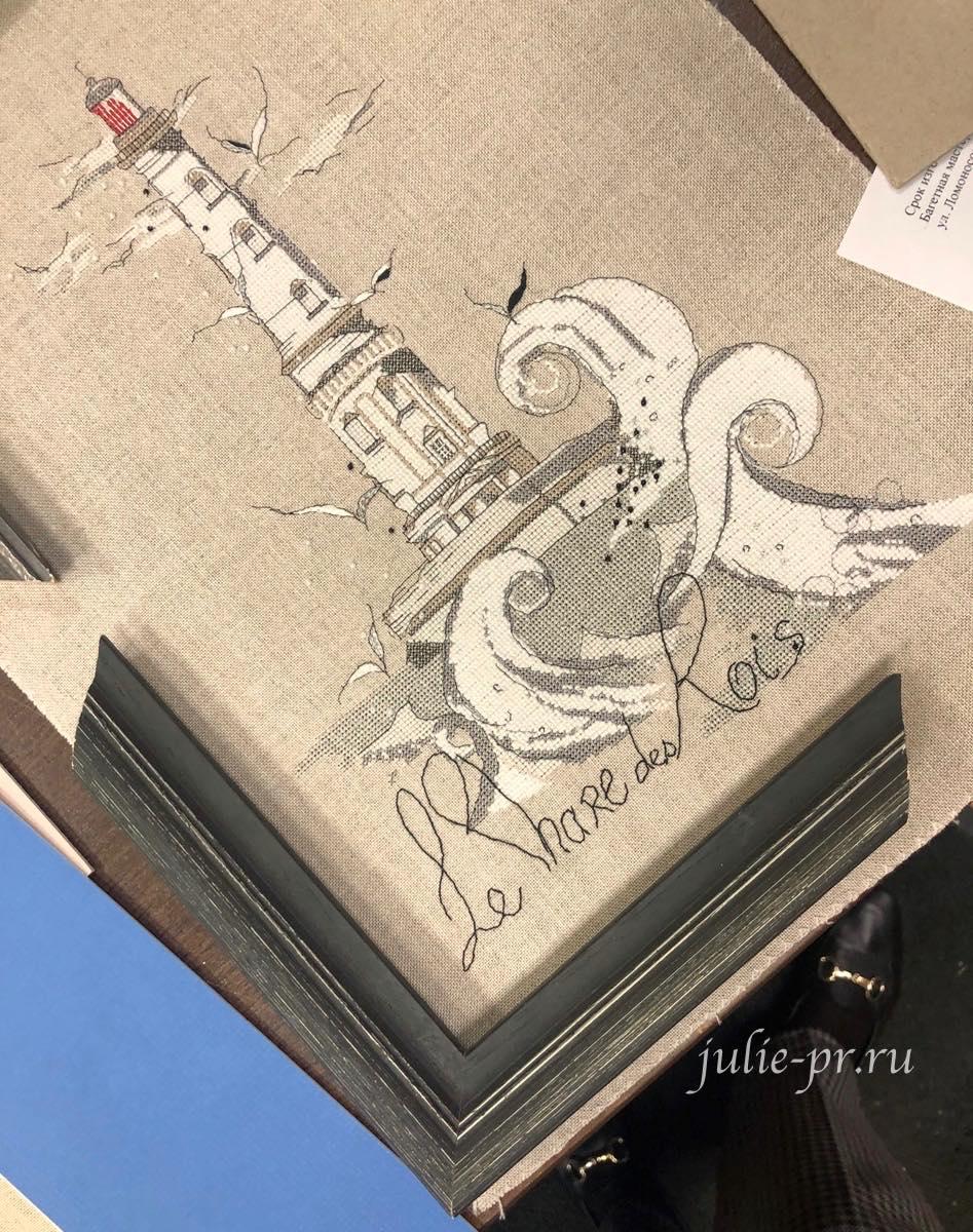 Soizic, Le Phare des Rois, Кордуанский маяк, Phare de Cordouan, вышивка крестом, белый маяк, французская вышивка, оформление