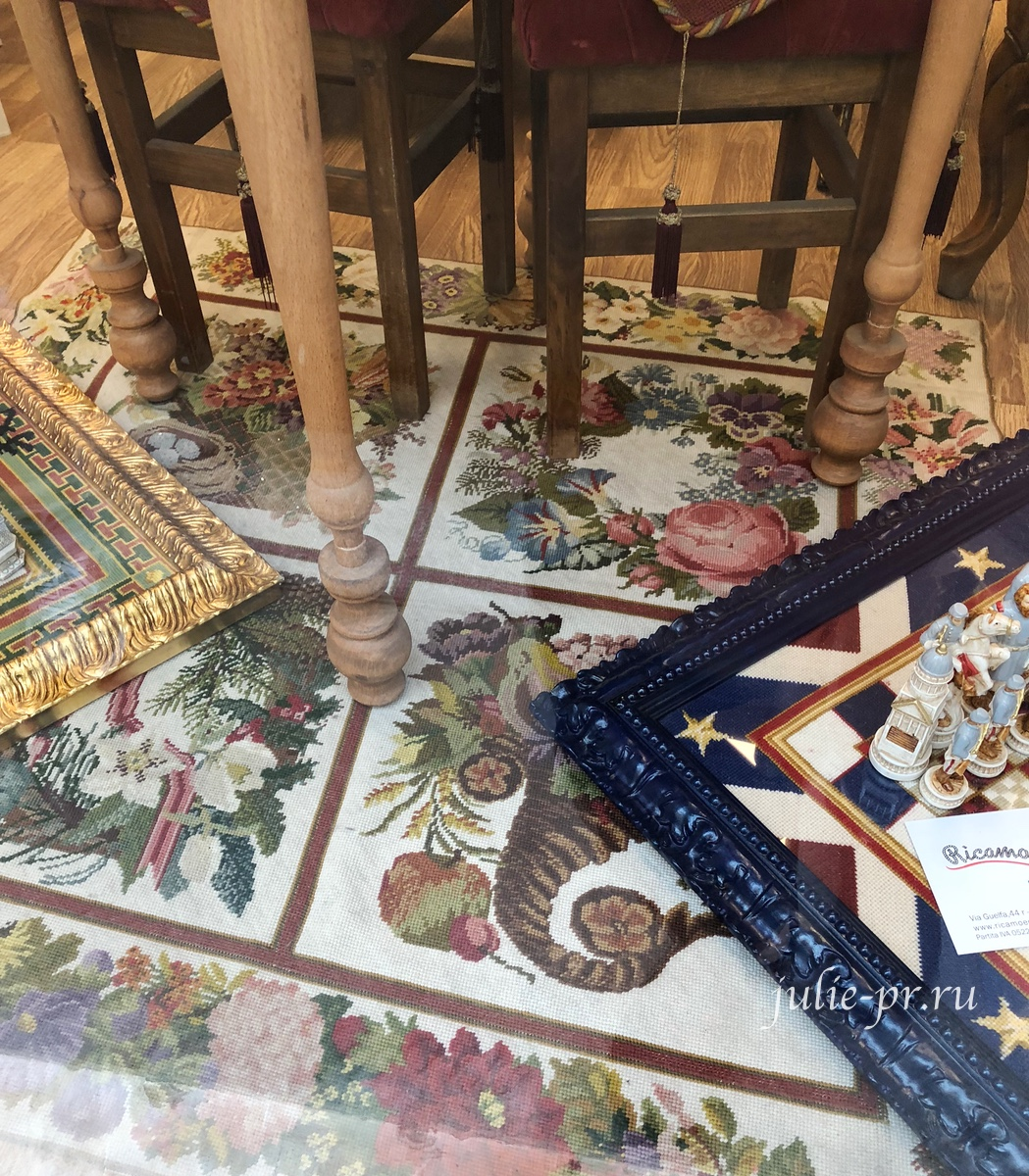 Рукодельный магазин Ricamo & Cucito, Флоренция, Италия, вышивка крестом, вышитый ковер