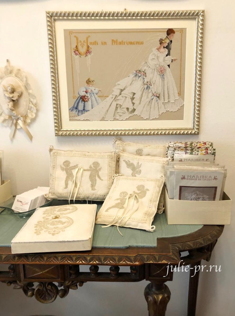 Рукодельный магазин Ricamo & Cucito, Флоренция, Италия, вышивка крестом, Mirabilia
