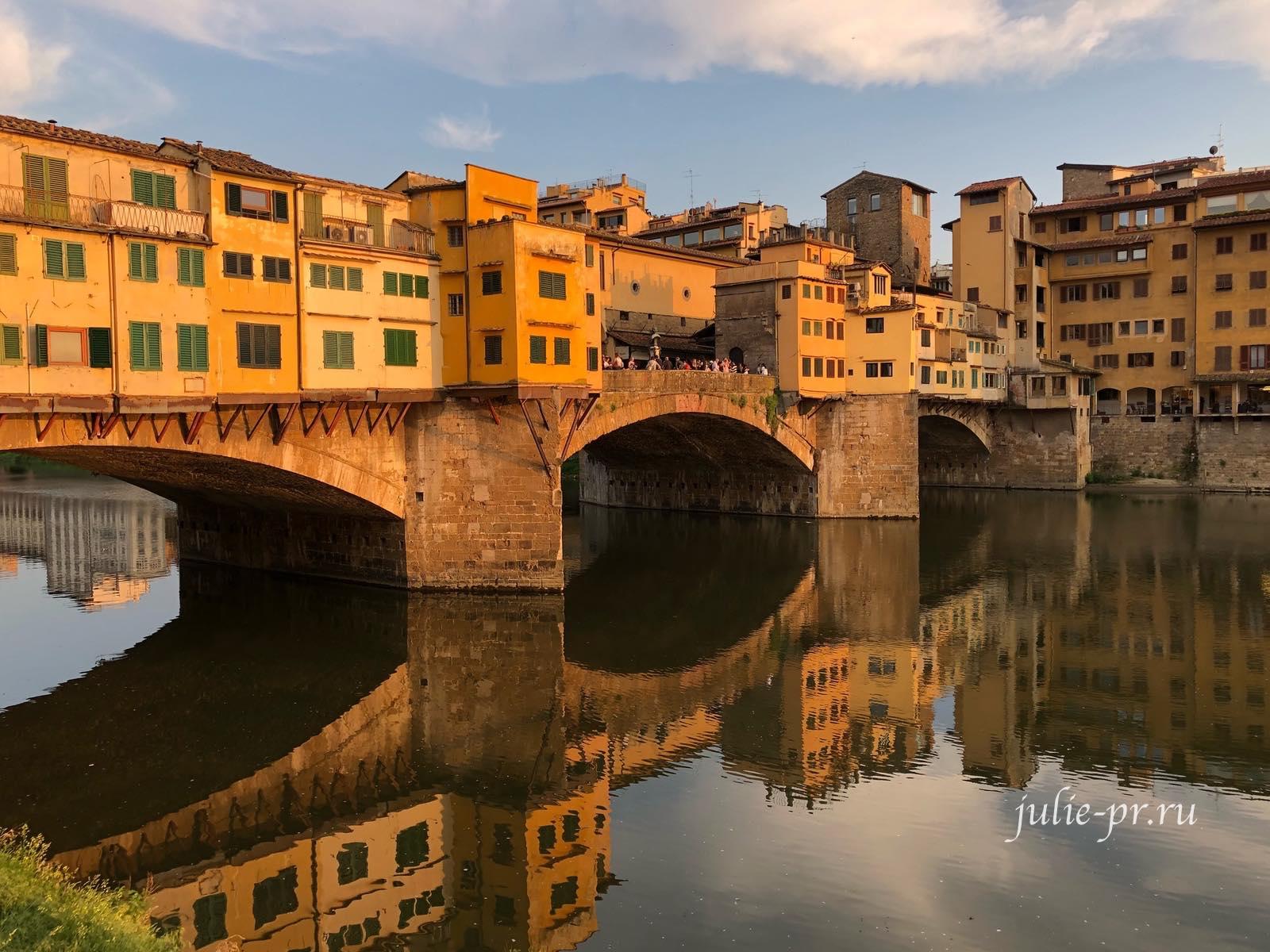 Флоренция, Италия, Понте-Веккьо, Ponte Vecchio, Старый мост
