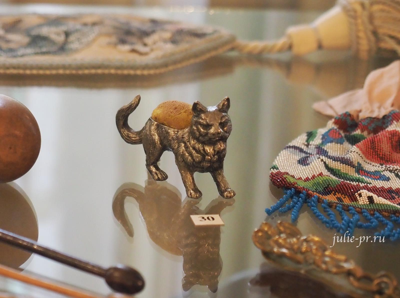 Игольница в виде кошки, Западная Европа, конец XIX в.