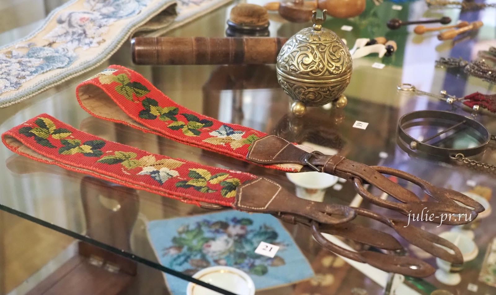 Подтяжки, вышивка крестом, вышивка гобеленовым швом, Англия, середина XIX в.