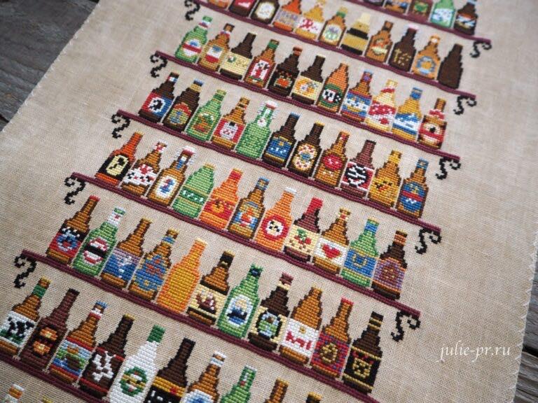 вышивка крестом, ink circles, 99 bottles, 99 бутылок, пиво, примитив