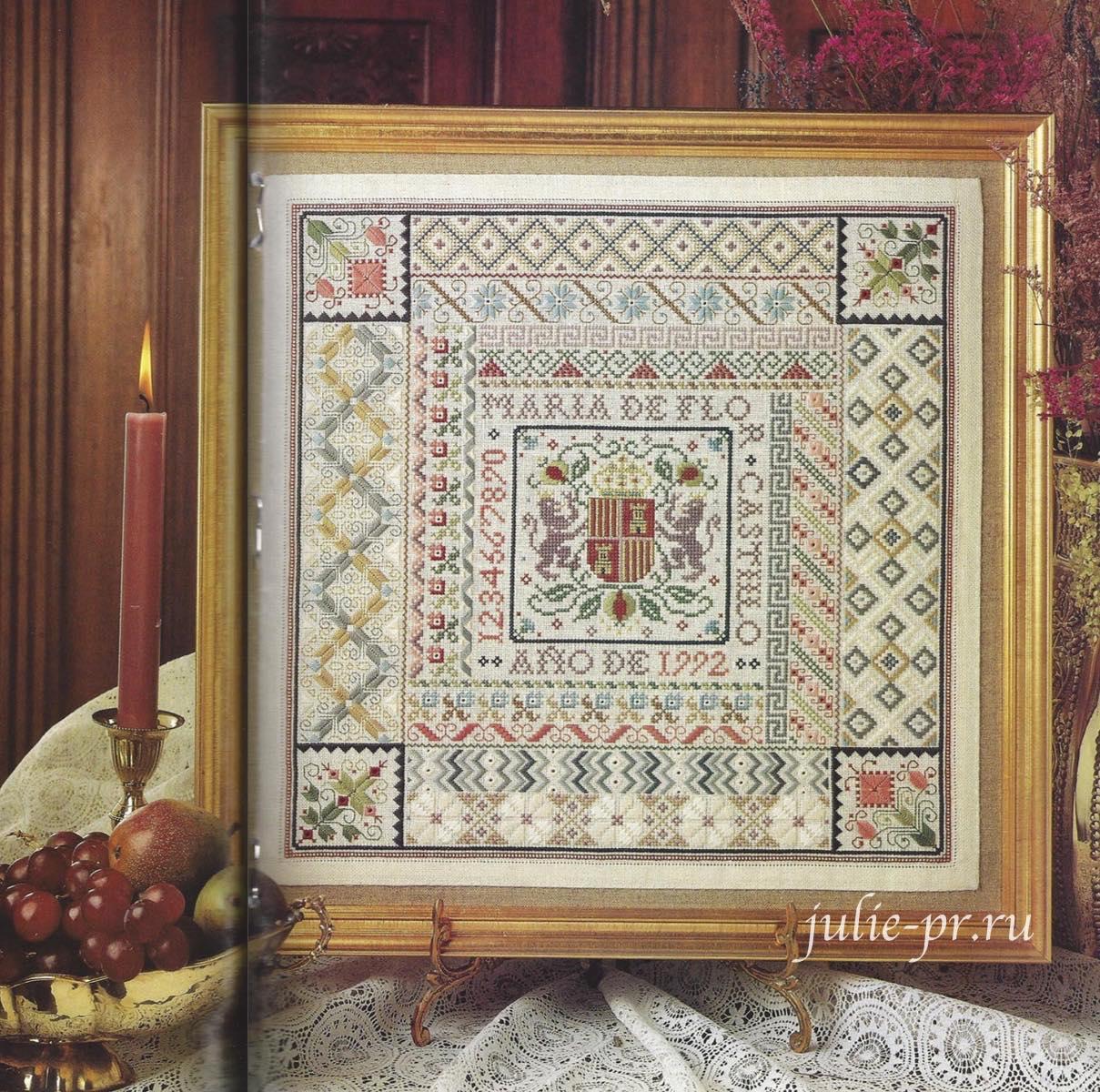 вышивка крестом, Spanish sampler, Испанский семплер, Sandy Orton, Сэнди Ортон, Sandra Orton, Treasures in needlework