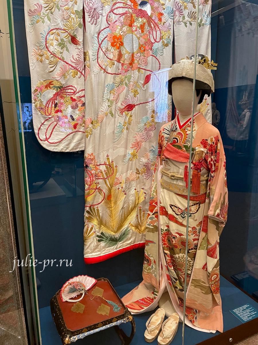 Российский этнографический музей, Санкт-Петербург, народная вышивка, кимоно, вышивка гладью