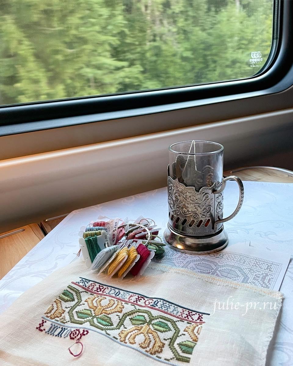 вышивка крестом, English sampler, Английский семплер, Sandy Orton, Сэнди Ортон, вышивка в поезде