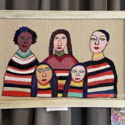 Выставка вышитых работ Девушки из 1938 года