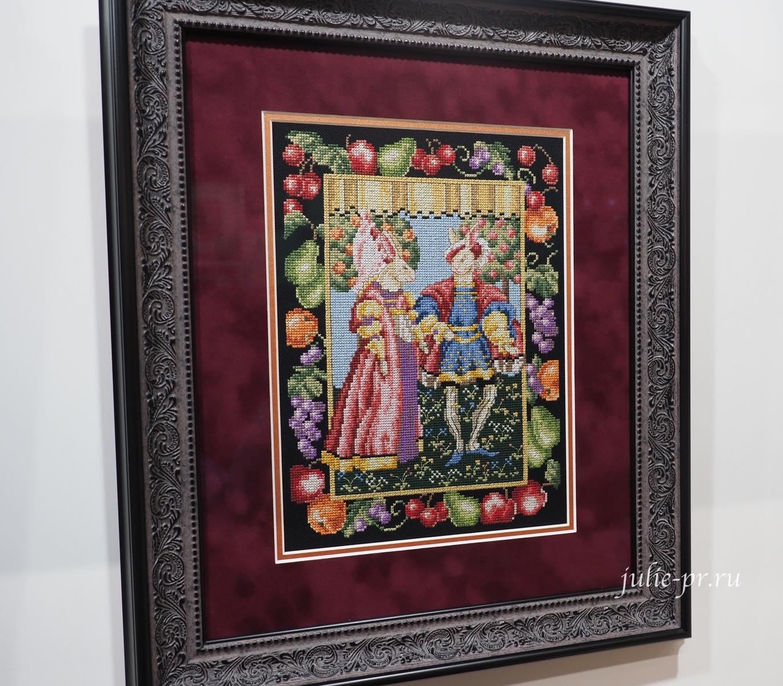 Marie Barber, Royal Rabbits, Королевские зайцы, вышивка крестом, формула рукоделия осень 2021, выставка