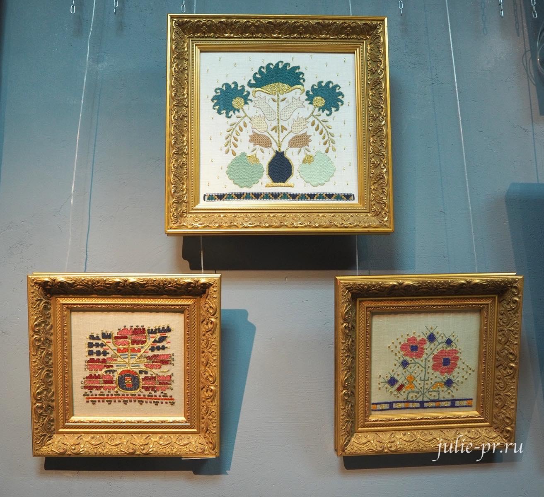 Выставка Цветная матрица мечты, Музей Русский Левша, вышивка, Санкт-Петербург, турецкая вышивка