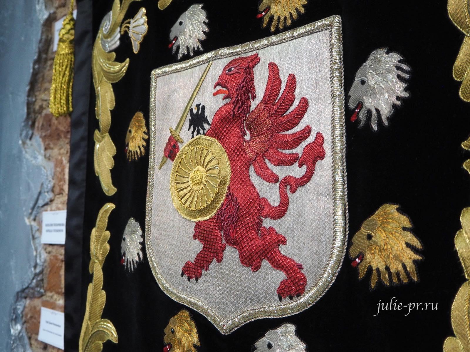 золотное шитье, Выставка Цветная матрица мечты, Музей Русский Левша, золотная вышивка, Санкт-Петербург