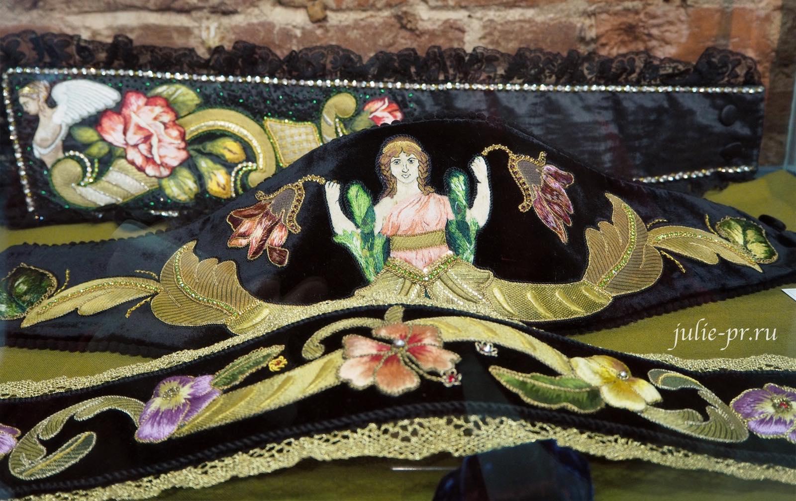 Выставка Цветная матрица мечты, Музей Русский Левша, золотная вышивка, золотное шитье, Санкт-Петербург